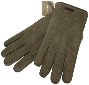 Burberry NWT BURBERRY SHEARLING LINED SUEDE LEATHER GLOVES