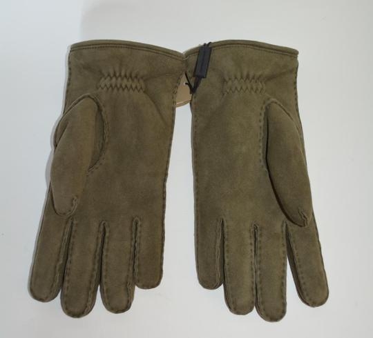 Burberry NWT BURBERRY SHEARLING LINED SUEDE LEATHER GLOVES Image 4
