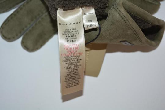 Burberry NWT BURBERRY SHEARLING LINED SUEDE LEATHER GLOVES Image 6