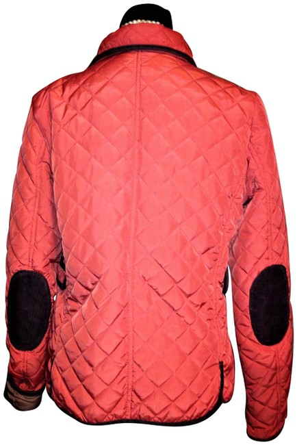 Item - Orange Filled Quilted Corduroy Trim Jacket Size 16 (XL, Plus 0x)