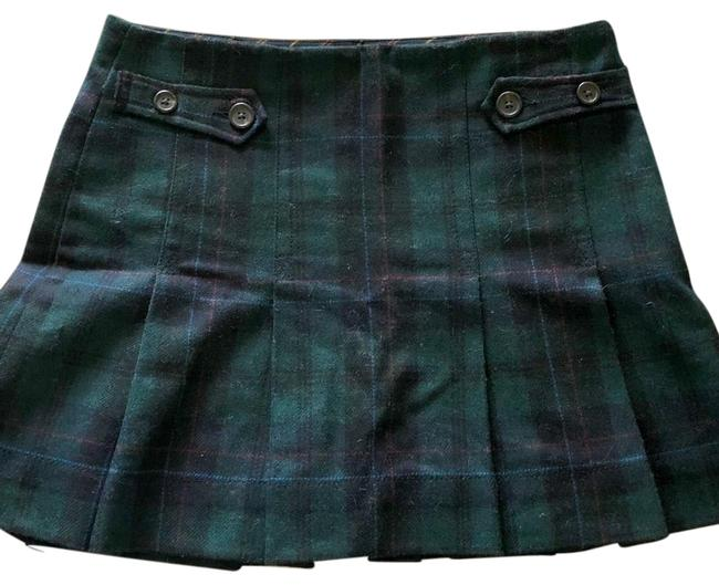 Item - Green Plaid Wool Skirt Size 4 (S, 27)