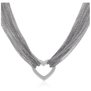 Tiffany & Co. Retired Multistrand heart toggle necklace