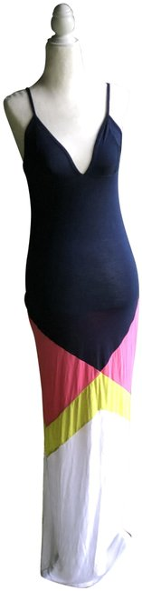 Item - Navy Color Block Long Casual Maxi Dress Size 2 (XS)