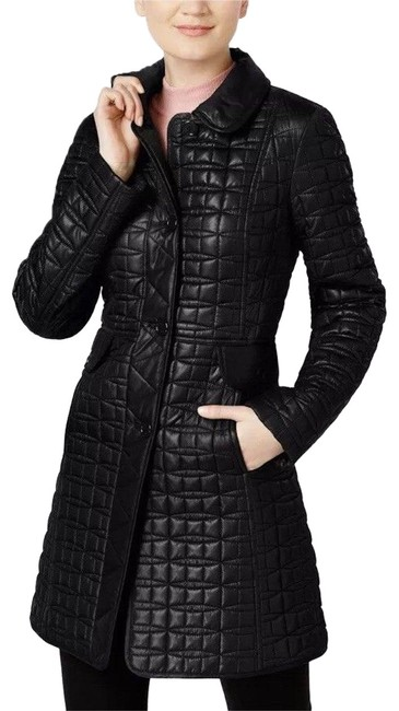Item - Black Packable Long A-line Quilted Coat Size 4 (S)