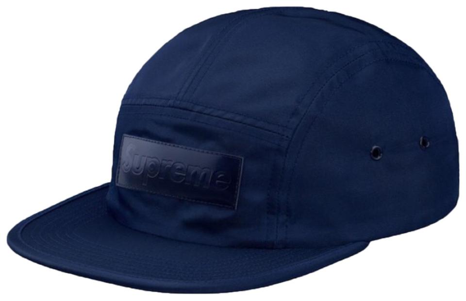 b3571f72260cca Supreme Navy Patent Leather Patch Camp Cap Hat - Tradesy