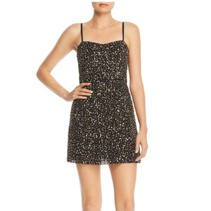 French Connection Sequin Mini Mini Mini Gold Sequin Dress