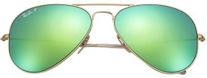 Ray-Ban Ray-Ban Polarized Green Flash Unisex Sunglasses- RB3025 112/P9