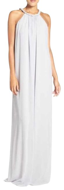 Item - Silver Bell Catherine Braided Chiffon Gown Long Formal Dress Size 8 (M)
