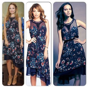Nicole Richie Collection short dress Navy blue on Tradesy