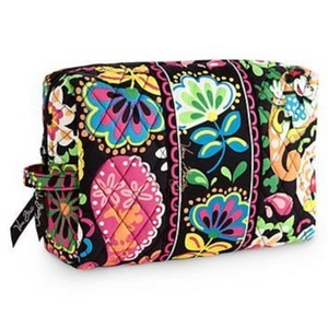 Vera Bradley Large Cosmetic Travel Case In Disney Midnight With Mickey