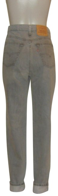 Item - Grey Medium Wash Denim High Waist Tapered Relaxed Fit Jeans Size 33 (10, M)