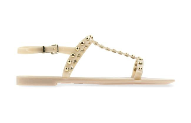 Item - Beige Jelly Taupe Studded Sandals Size EU 40 (Approx. US 10) Regular (M, B)