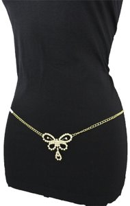 fe7366a88f4f Other Women Gold Metal Chain Belly Belt Hip Fashion Butterfly Pool Party