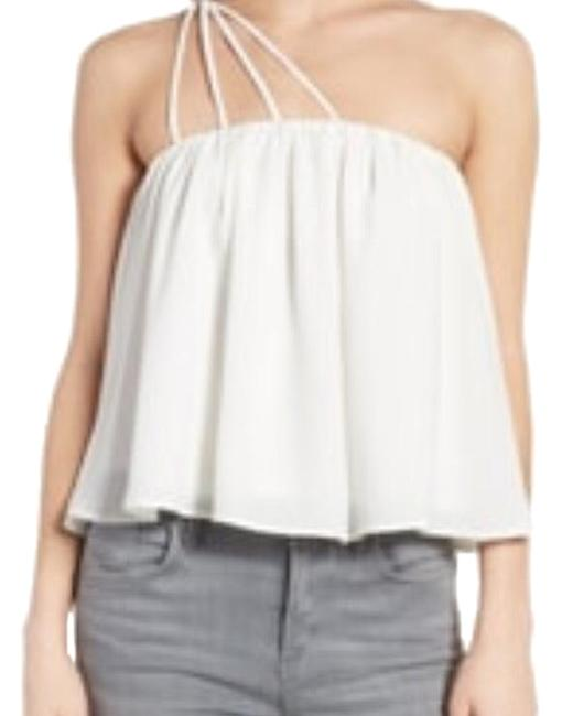 BP. Clothing Brass Plumb Strappy One Shoulder Tank Ivory Top BP. Clothing Brass Plumb Strappy One Shoulder Tank Ivory Top Image 1