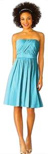 After Six Strapless Chiffon Blue Dress