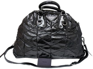 fedc29f1e22f ... low price prada chevron quilted leather nice textured black travel bag  19a60 eead0 ...