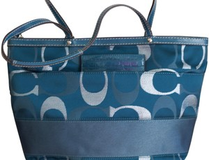 Coach Vintage Tote in Blue/Gray