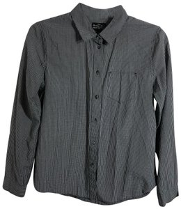 Madewell Button Down Shirt Black & White