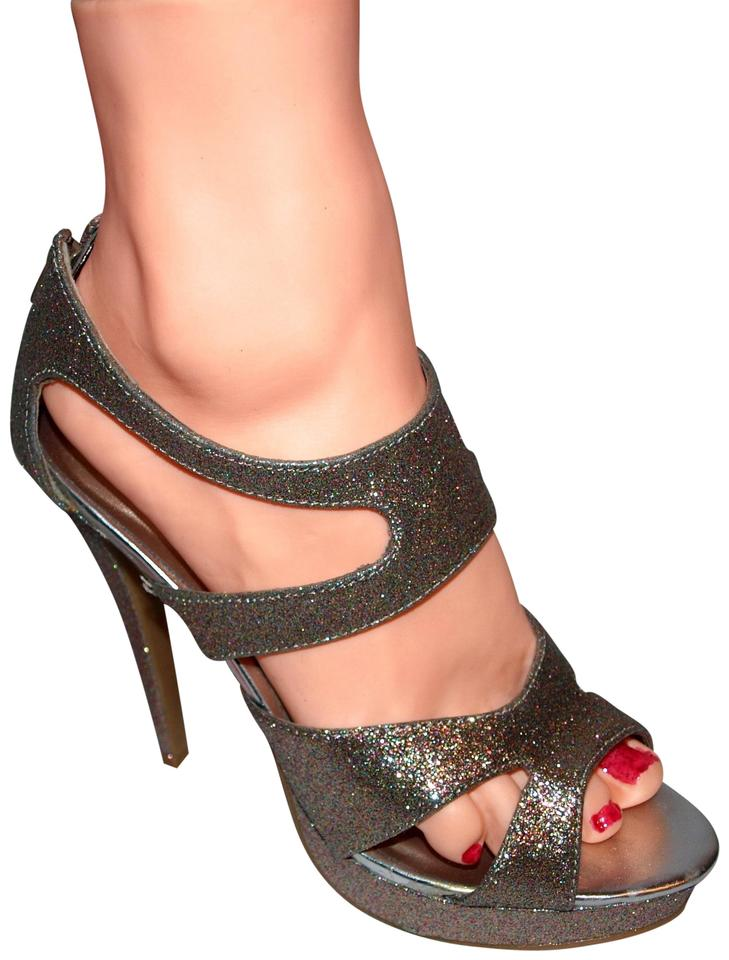 ec9ceadfb933 Charlotte Russe Date Sexy Party Prom Rainbow Glitter Pumps Image 0 ...