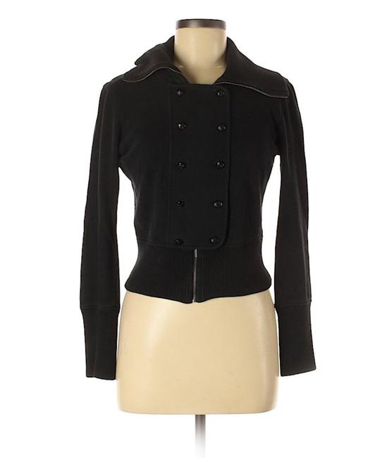 Item - Black Jersey Double Breasted Jacket Size 4 (S)