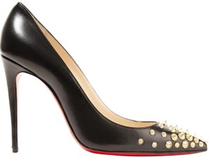 Christian Louboutin Red Soles Spike Pigalle Black Pumps