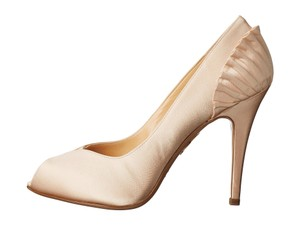 Charlotte Olympia Bridal Wedding Satin Ivory Pumps
