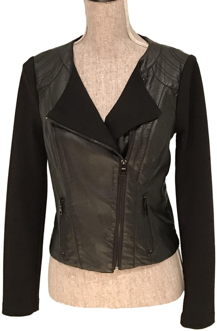 Item - Black Faux Leather/Fabric Small) Jacket Size 6 (S)