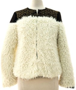 8164667783 Nine West Ivory Cream Pearl New with Tags Faux-fur Wool Winter Coat ...