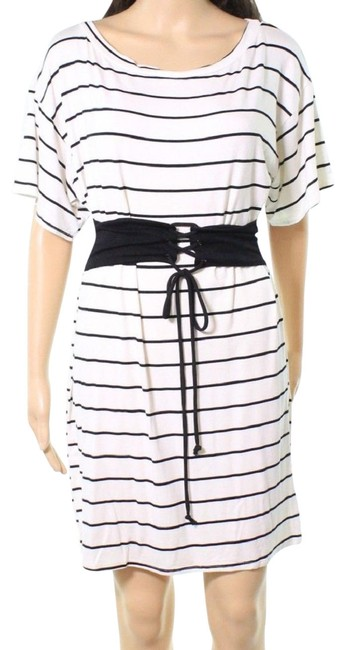 Item - Ivory Women's Medium Striped Short Casual Dress Size 10 (M)