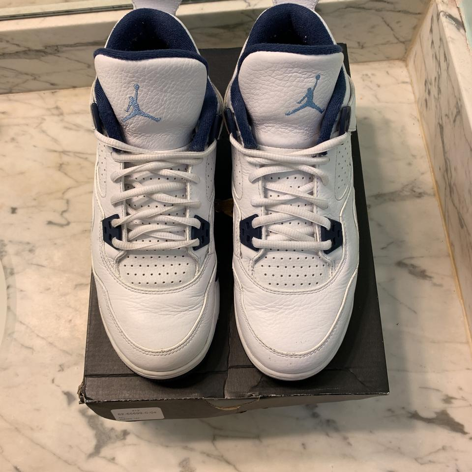 new product e7b1e d7ff9 Air Jordan White Legend Blue-Midnight Navy Athletic Image 6. 1234567