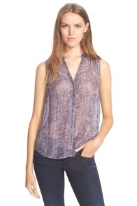 Rebecca Taylor Top Metallic Purple