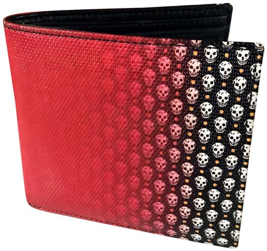 Preload https://img-static.tradesy.com/item/24567033/alexander-mcqueen-black-and-red-amcq-unisex-bifold-leather-skulls-wallet-0-1-540-540.jpg