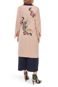 Topshop Holiday Embroidered Trench Coat