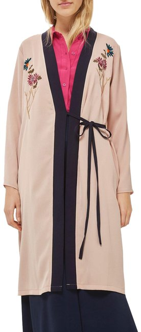 Item - Dusty Rose Biege (Nwt) Tiger Embroidered Duster Coat Size 4 (S)