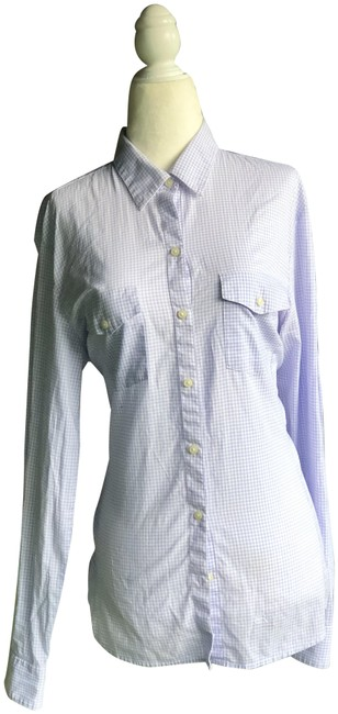 Preload https://img-static.tradesy.com/item/24567063/lavender-and-white-republic-soft-wash-shirt-button-down-top-size-12-l-0-1-650-650.jpg