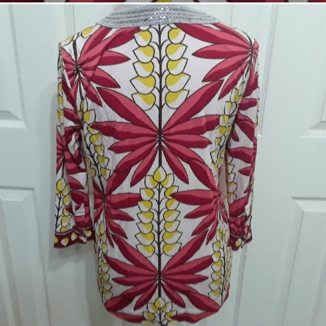 Tory Burch Beaded Floral Top Red, Yellow