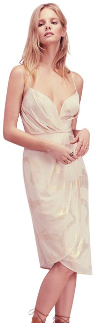 Item - Pink Gold (Nwot) Draped Mid-length Cocktail Dress Size 4 (S)