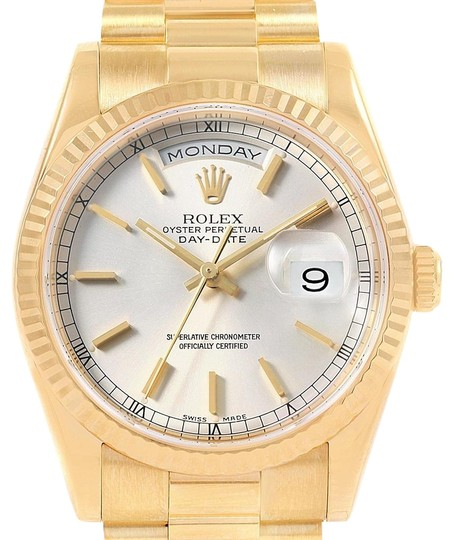 Preload https://img-static.tradesy.com/item/24567250/rolex-silver-president-day-date-yellow-gold-mens-118238-box-papers-watch-0-1-540-540.jpg