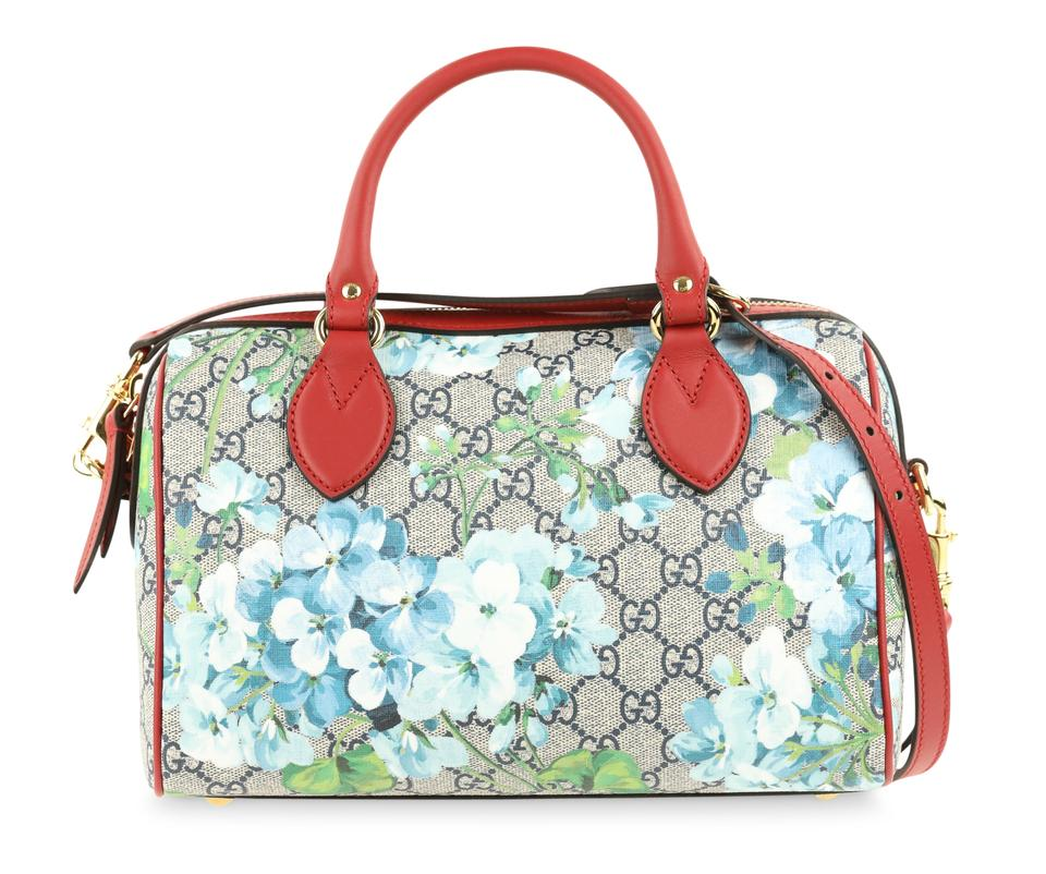 1061f9f9fab Gucci Beige Blue Gg Coated Canvas Small 409529 8492 Satchel in Blue Image 0  ...