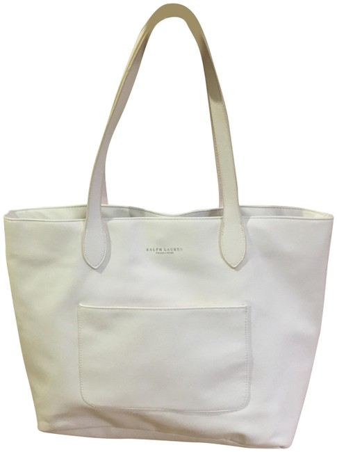 Item - Satchel White Leather Tote