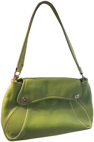 Preload https://img-static.tradesy.com/item/24567683/cole-haan-silver-details-in-a-cute-summer-green-leather-shoulder-bag-0-1-540-540.jpg