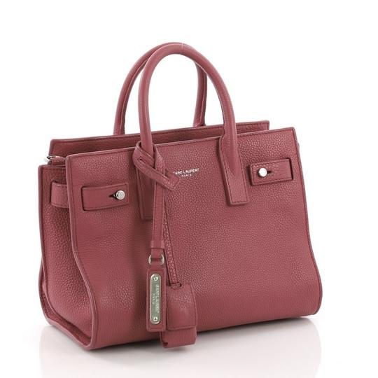 Saint Laurent Leather Tote in pink