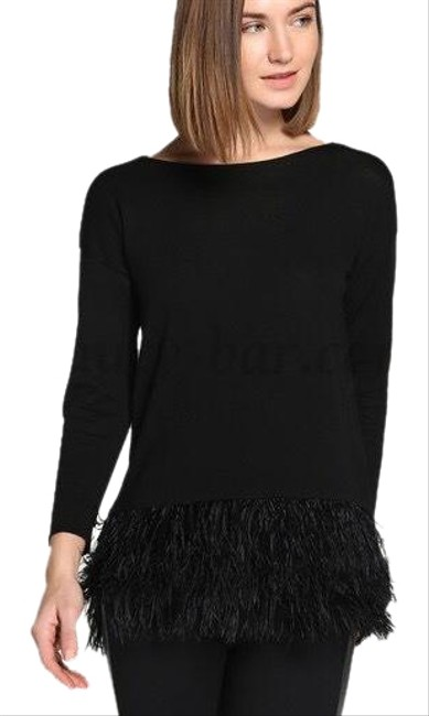 Preload https://img-static.tradesy.com/item/24567828/polo-ralph-lauren-feather-blouse-black-top-0-2-650-650.jpg