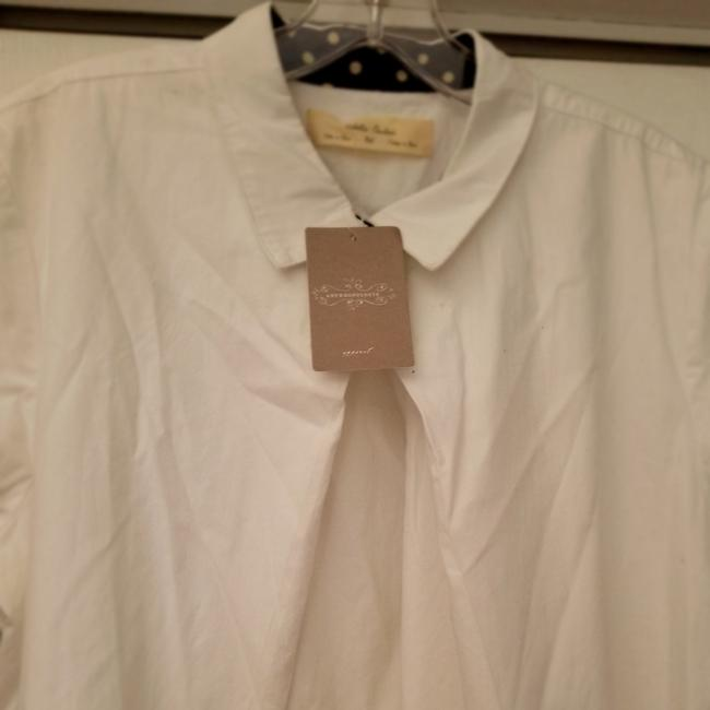 Anthropologie short dress White New With Tags Cotton Plus-size on Tradesy