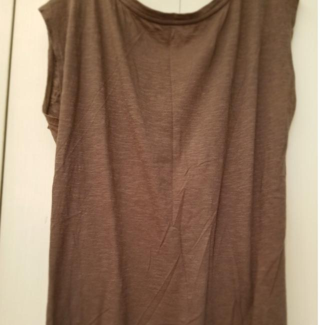Ann Taylor LOFT Decorative Large Cotton T Shirt Grey