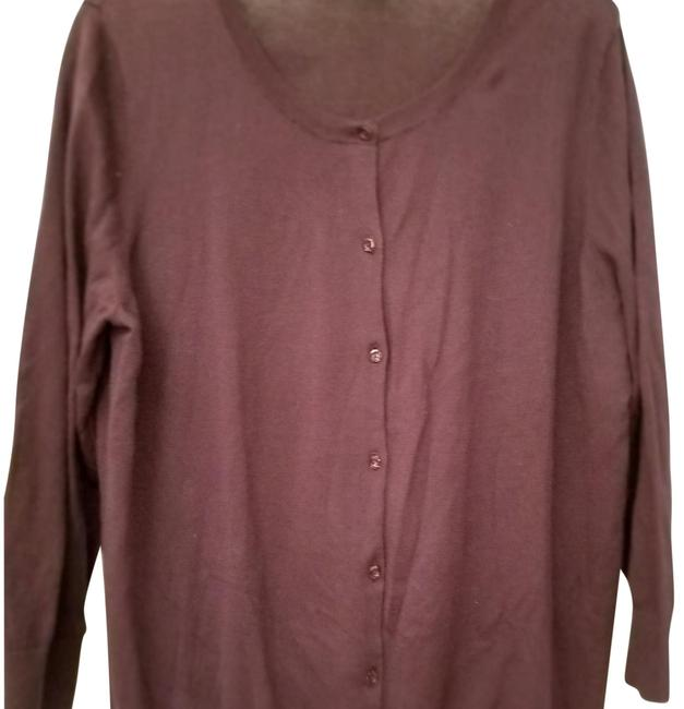 Preload https://img-static.tradesy.com/item/24568158/ann-taylor-loft-purpleeggplant-34-sleeve-jewel-cardigan-button-down-top-size-16-xl-plus-0x-0-1-650-650.jpg