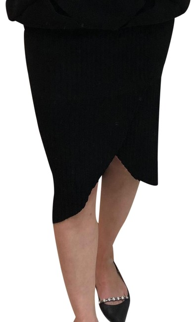Chanel Black Mid Length Knit Skirt Size 6 (S, 28) Chanel Black Mid Length Knit Skirt Size 6 (S, 28) Image 1