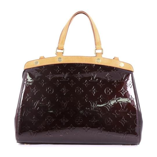 Louis Vuitton Leather Tote in dark purple