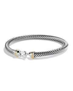 "David Yurman ""Cable Classics"" 5mm Silver Cuff Bracelet"