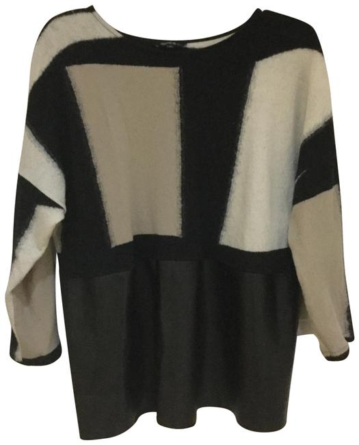 Preload https://img-static.tradesy.com/item/24568460/lafayette-148-new-york-mixed-media-black-taupe-cream-sweater-0-1-650-650.jpg